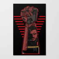metal gear Canvas Prints featuring Metal Power Gear by Akyanyme