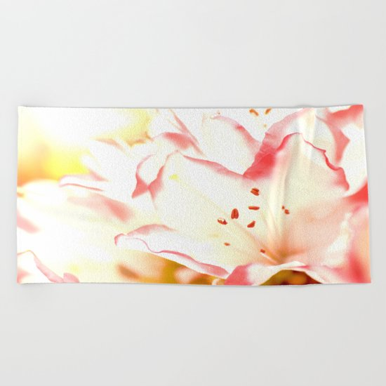 Dreamy Flowers  Beach Towel