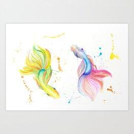 Betta Fish (The Fish dance) Art Print