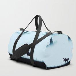 The moose - minimalist landscape Duffle Bag