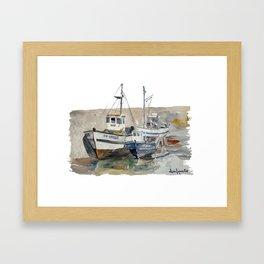 Pêche Artisanale - Le Croisic 1977 Framed Art Print
