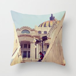 Bellas Artes Metro View Throw Pillow