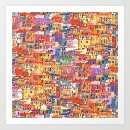 Seamless Cinque Terre Art Print