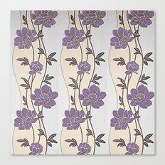 Purple Flower Garland Canvas Print