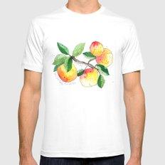 Peaches Mens Fitted Tee White MEDIUM