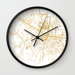 SIEM REAP CAMBODIA CITY STREET MAP ART Wall Clock