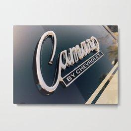 Special Chrome Camaro Emblem Metal Print