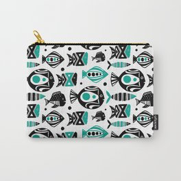Deep Sea White Carry-All Pouch