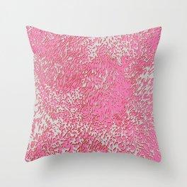 furry texture pink Throw Pillow