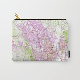 Vintage Map of Napa California (1951) Carry-All Pouch
