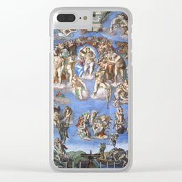 "Michelangelo ""Last Judgment"" Clear iPhone Case"