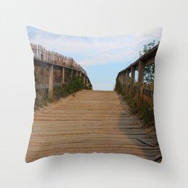 Ocean Footbridge Throw Pillow