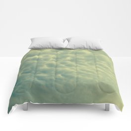 moody bubble clouds Comforters