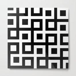 Geometric Pattern #33 (square loop) Metal Print