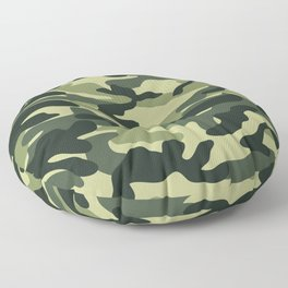 Green Military Camouflage Pattern Floor Pillow