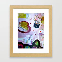 you are what you eat.  so be nice to plants and bees and (therefore) your own self Framed Art Print