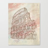 roman Canvas Prints featuring roman colosseum  by Doomko