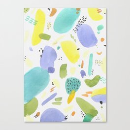Chubby Watercolor marks Canvas Print