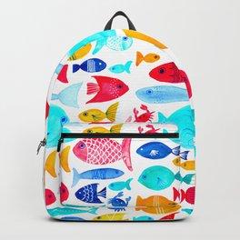 Fish Pattern - Ocean - Nautical - Sea - Swim - Crabs - Summer Backpack