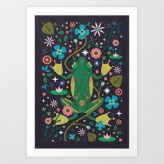 Botanical Frog Art Print