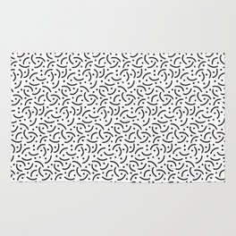 Squiggly Lines & Dots Rug