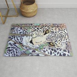 Never Resting - Leopard by Maureen Donovan Rug