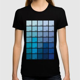 Shades of Blue Pantone T-shirt