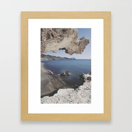 Arch beach Framed Art Print