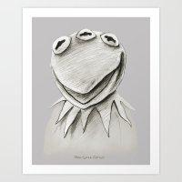 kermit Art Prints featuring Monsanto Kermit by Mutant Colony