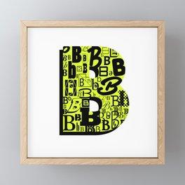 Letter B Framed Mini Art Print