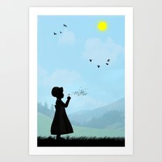 Childhood dreams, One O'Clock Art Print