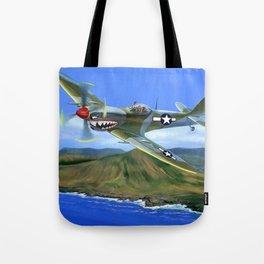 Spitfire Soars Over Hawaii Tote Bag