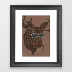 Mr. Moose Framed Art Print