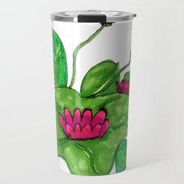 Pink Lilly Travel Mug