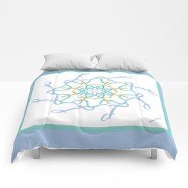 Lullaby Mandala - Blue Teal Comforters