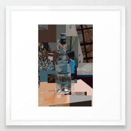 On The Table Blue Framed Art Print