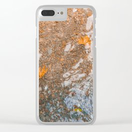 Water and foil Clear iPhone Case