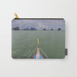 Thai boat and limestone islands Carry-All Pouch