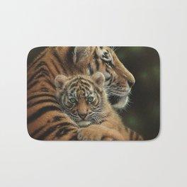 Tiger Mother and Cub - Cherished Bath Mat