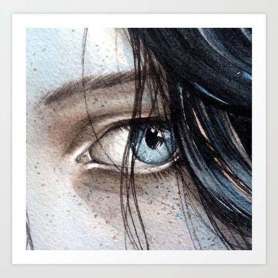 pure blue Art Print