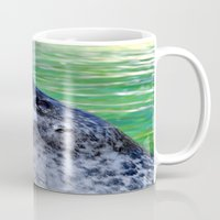 seal Mugs featuring seal by  Agostino Lo Coco