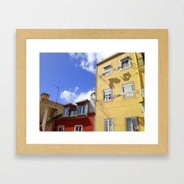 Laundry in Lisbon Framed Art Print