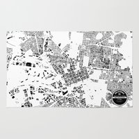melbourne Area & Throw Rugs featuring MELBOURNE by Maps Factory