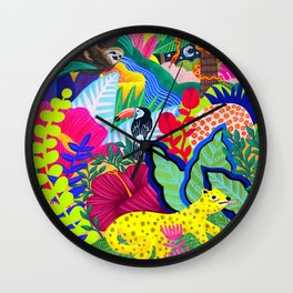 Jungle Party Animals Wall Clock