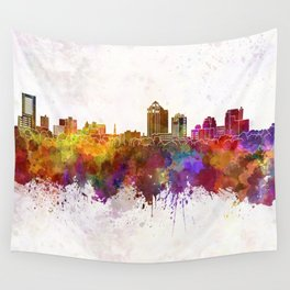 New Haven skyline in watercolor background Wall Tapestry