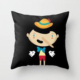 Pinochio Throw Pillow