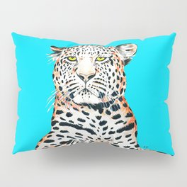 Leopard King Ink Blue Pillow Sham