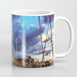 Storm Over the Erie Basin Marina Coffee Mug