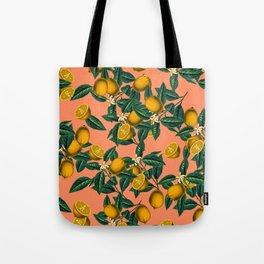 Lemon and Leaf Tote Bag