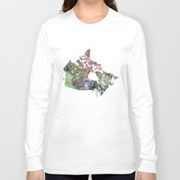 canada Long Sleeve T-shirts featuring Canada by minouette